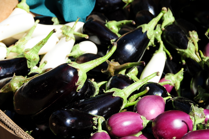 eggplant at St. Lawrence farmers market