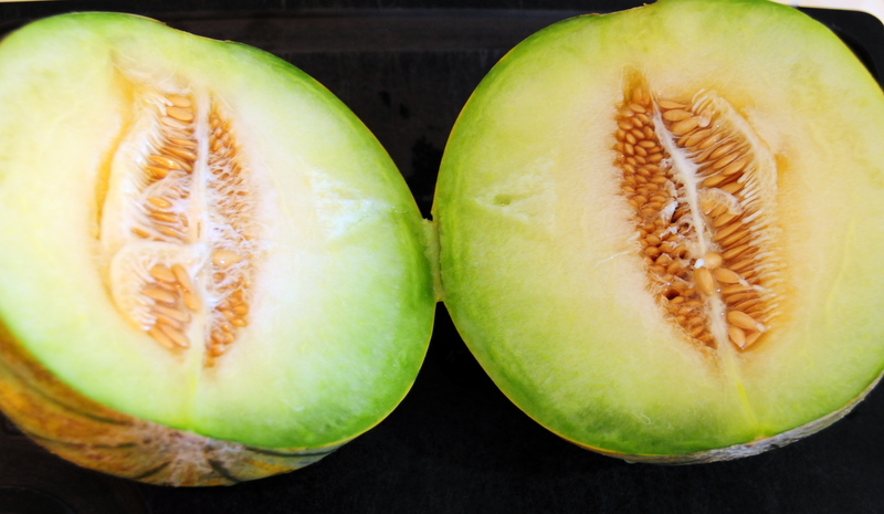 guava melon flesh with seeds