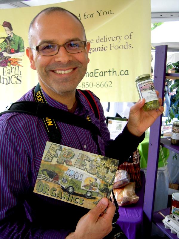 having fun at the 26th Annual Vegetarian Food Fair