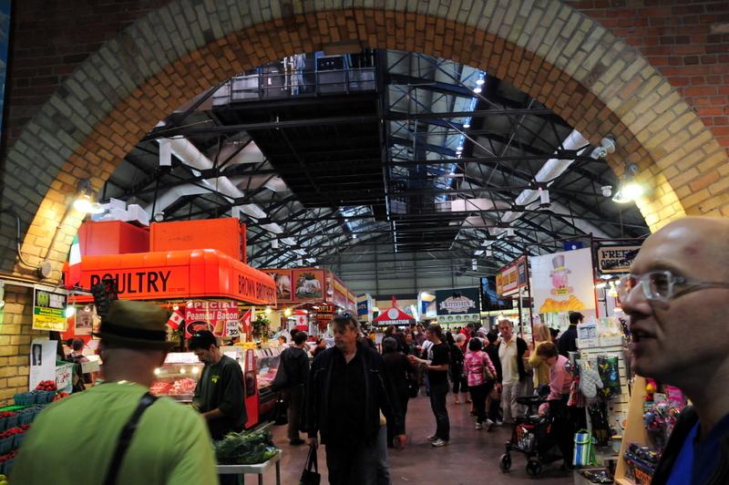 inside the St. Lawrence Market