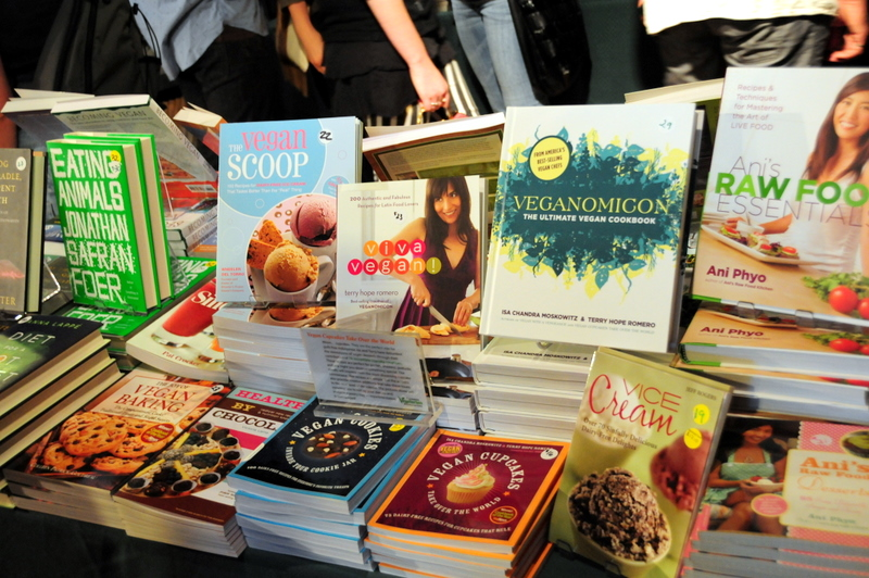 some literature for sale at the 26th Annual Vegetarian Food Fair