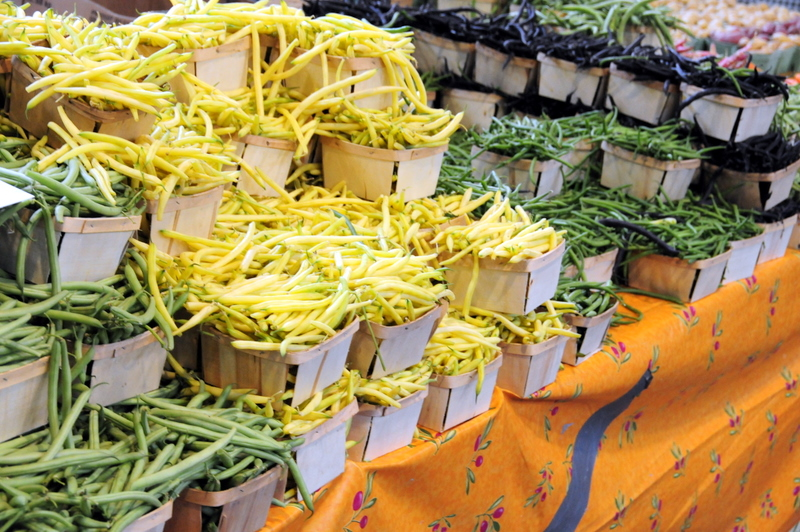 some string beans for sale at the St. Lawrence farmers market