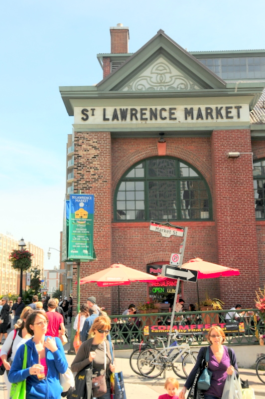 welcome to the St. Lawrence Market