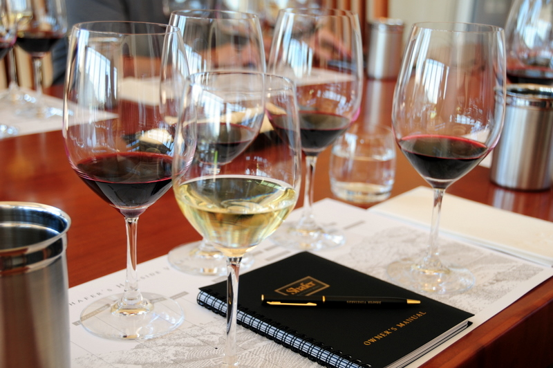 Shafer wines that we tasted
