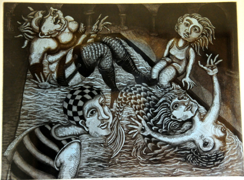 my print of Chalini's Bathing with Muses