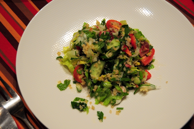 tabouli with endive and escarole