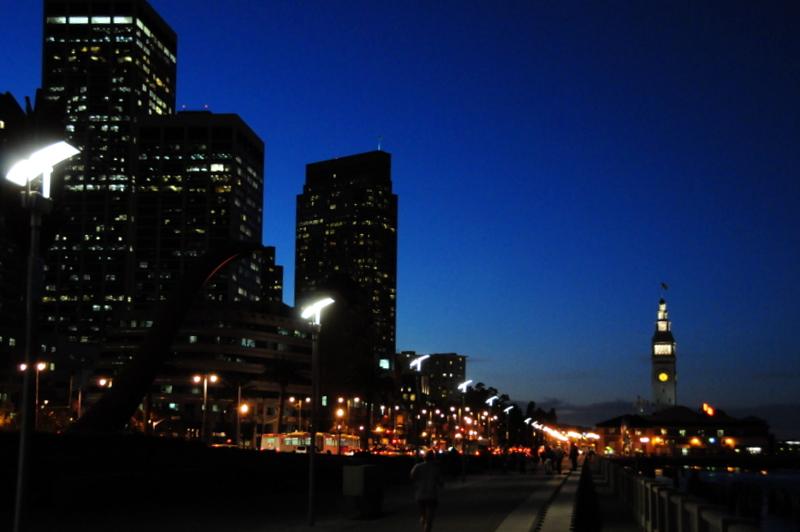 San Francisco Embarcadero at dusk