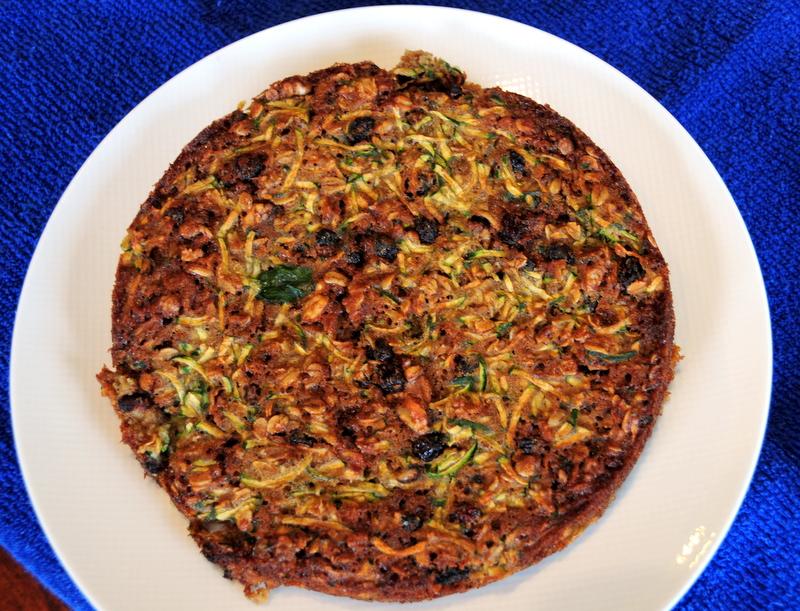Irene's zucchini oatmeal raisin bread