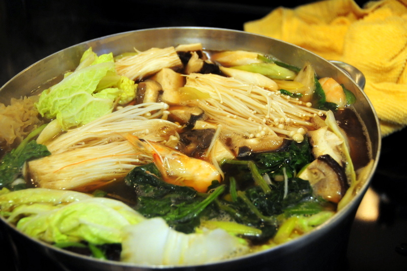 seafood vegetable nabe