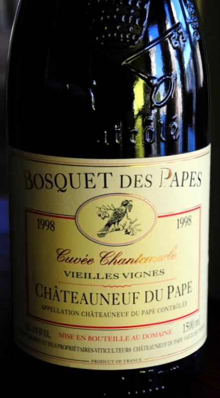 1998 Bosquet des Papes Châteauneuf du Pape Cuvée Chantemerle Vielles Vignes