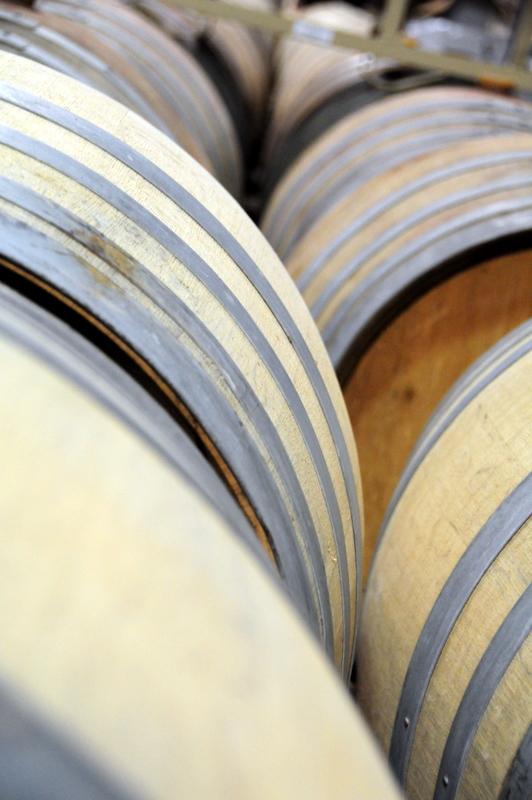 barrels of wine at Eric Kent