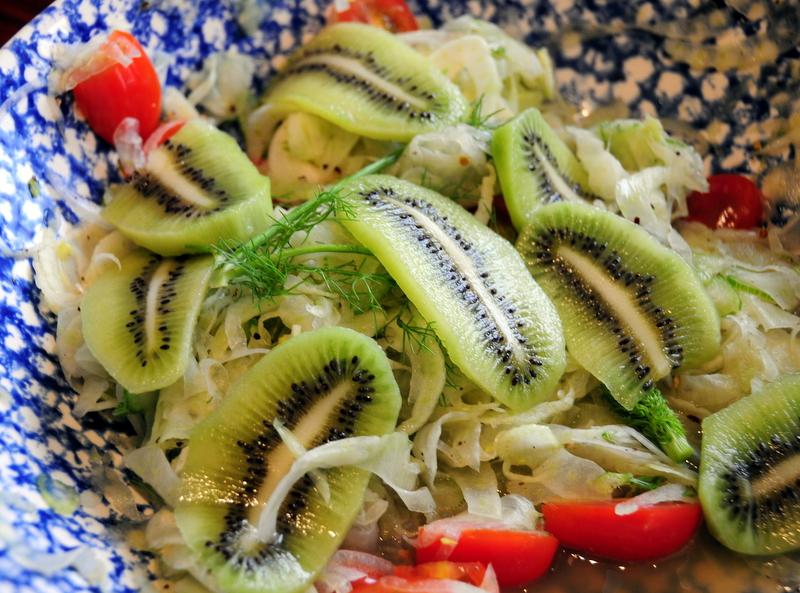 kiwi fennel ceviche