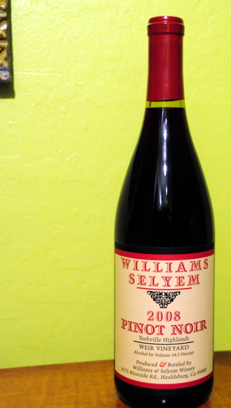 2008 Williams Selyem Yorkville Highlands Pinot Noir Weir Vineyard