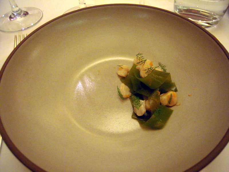 Geoduck and Manila clam with bull kelp