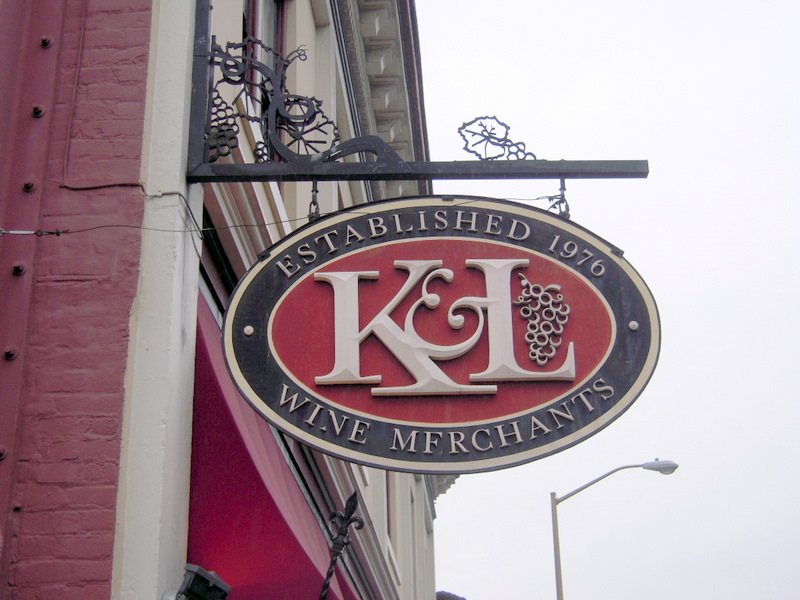 welcome to K & L Wine Merchants, San Francisco