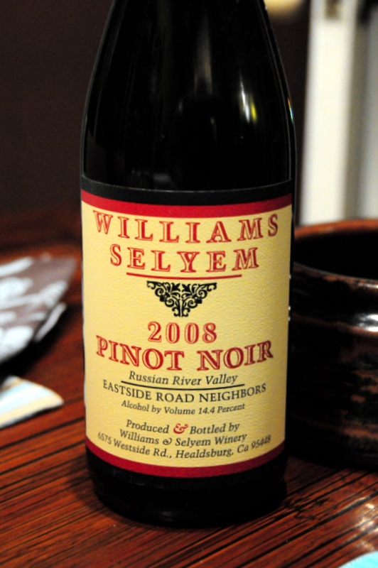 2008 Williams Selyem Pinot Noir Russian River Valley Eastside Road Neighbors