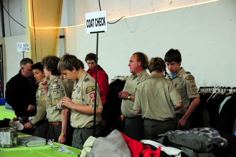 Boy Scout coatcheck  these boys are learning about wine early on in Paso Robles!