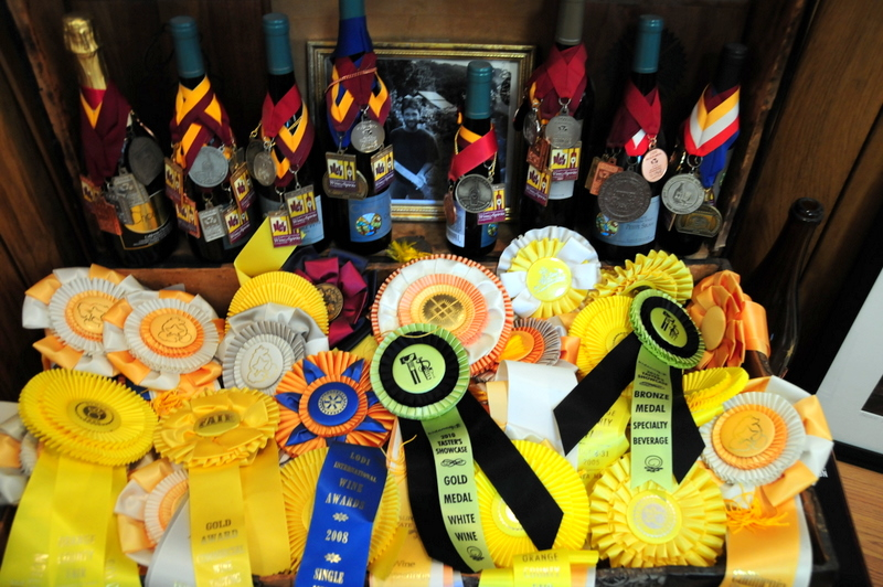 Chouinard Vineyards has won lots of medals and ribbons for their wines