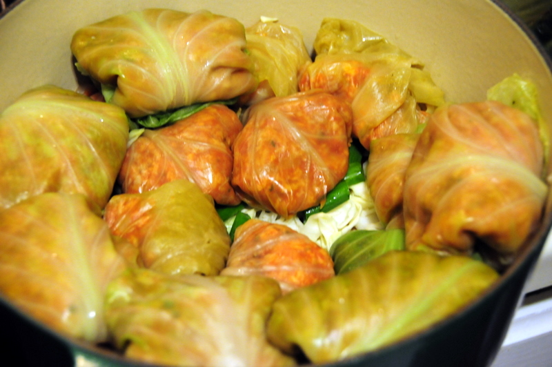 more layers of stuffed cabbage
