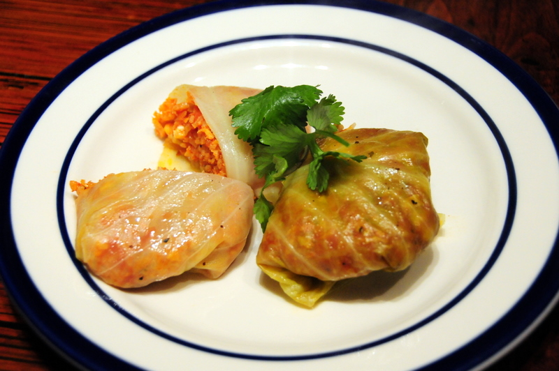 vegan stuffed cabbage