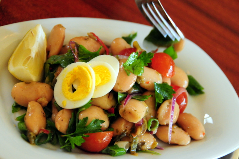 giant white bean salad
