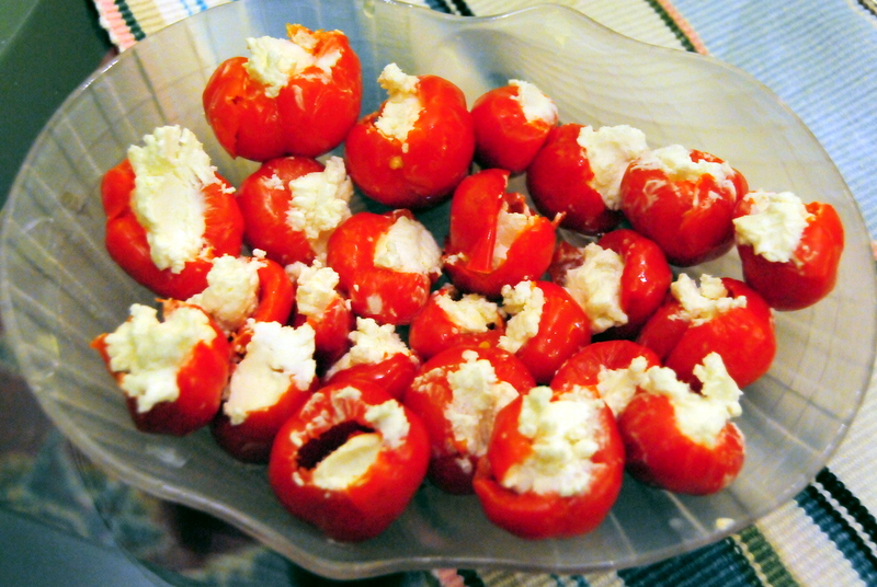goat cheese-stuffed piquillo pepper appetizers