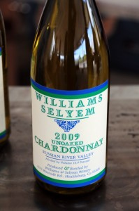 2009 Williams Selyem unoaked chardonnay