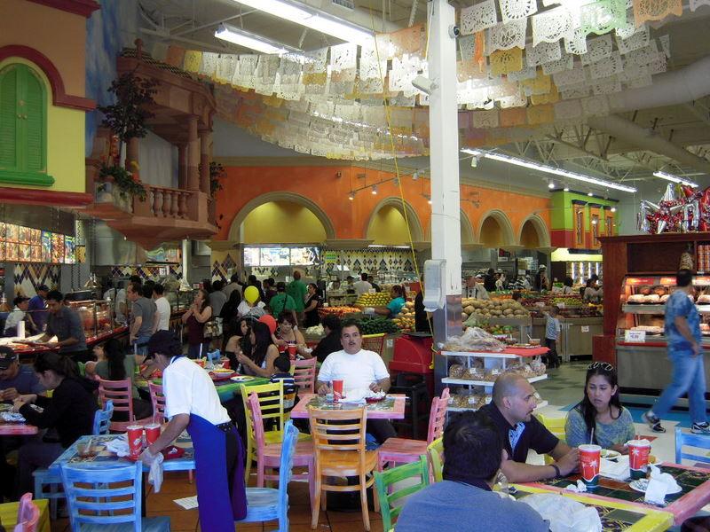 bustling Mi Pueblo restaurant