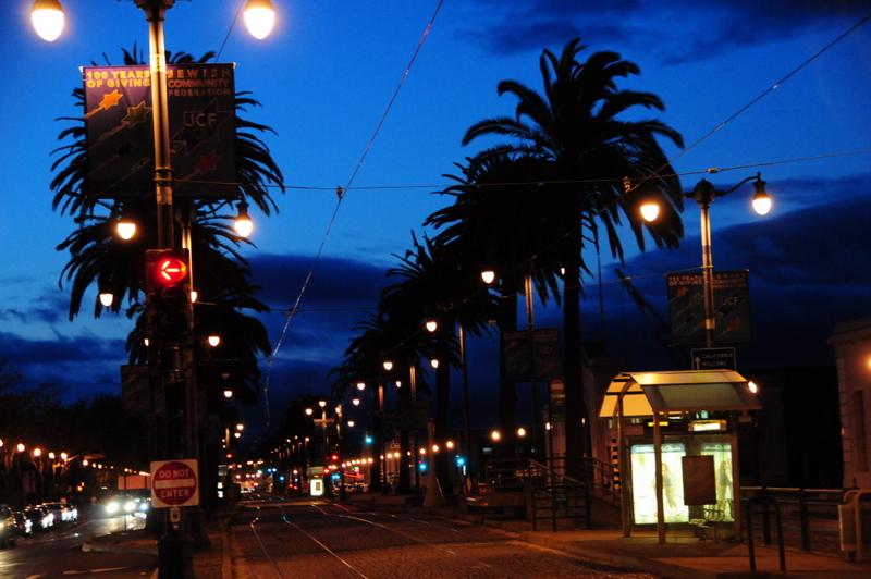 evening on the San Francisco Embercadero