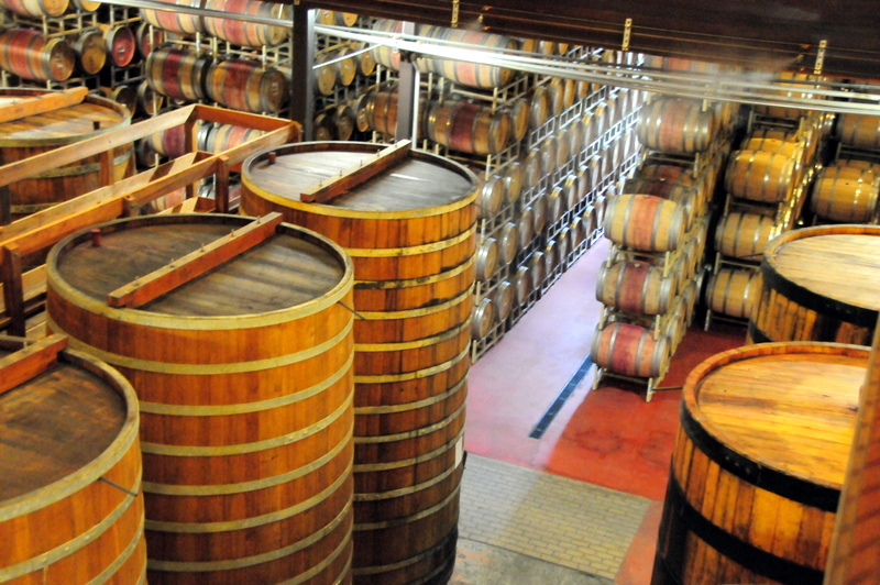 incredible barrel room at Sterling
