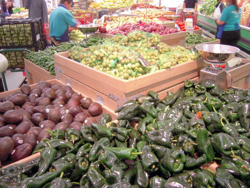 poblanos and avocados at Mi Pueblo