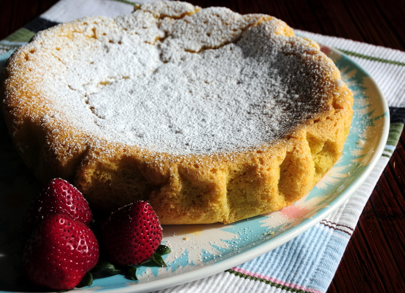 polenta cake with citrus glaze
