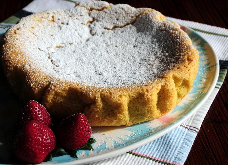 polenta cake with citrus glaze
