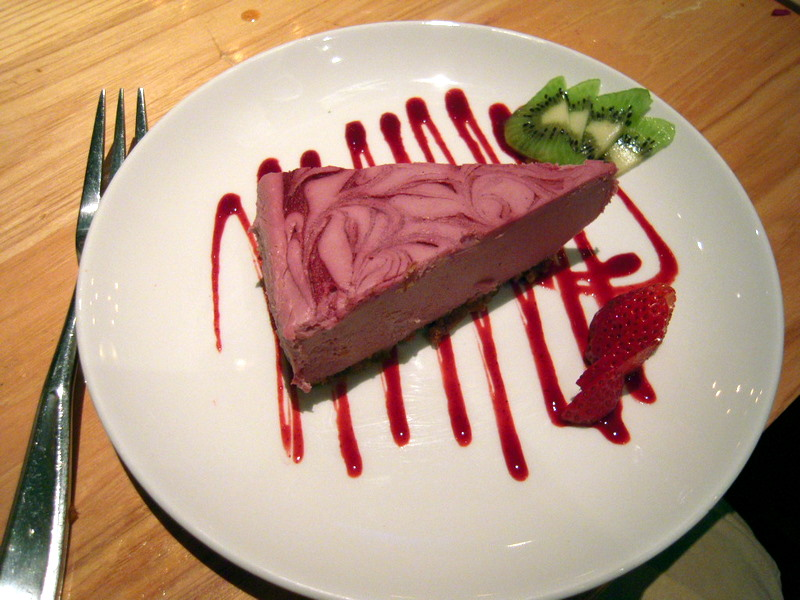 raw raspberry cashew cheescake