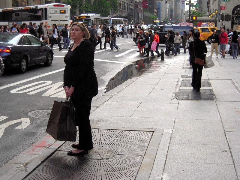 relentlessly glamorous in black in New York