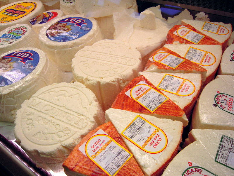 varous cheeses:  see the Los Altos Queso Fresco in the middle?