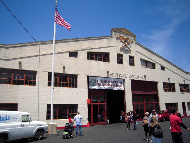 7th Annual Pinot Days Festival entrance at Fort Mason