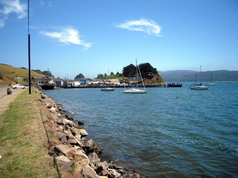 a view of Tomales Bay
