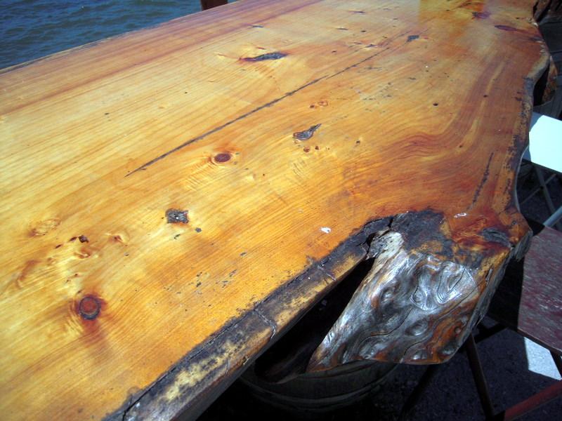 huge redwood table