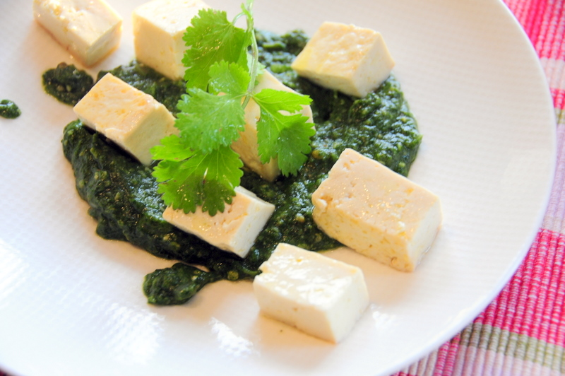 palak tofu or Indian pesto with tofu