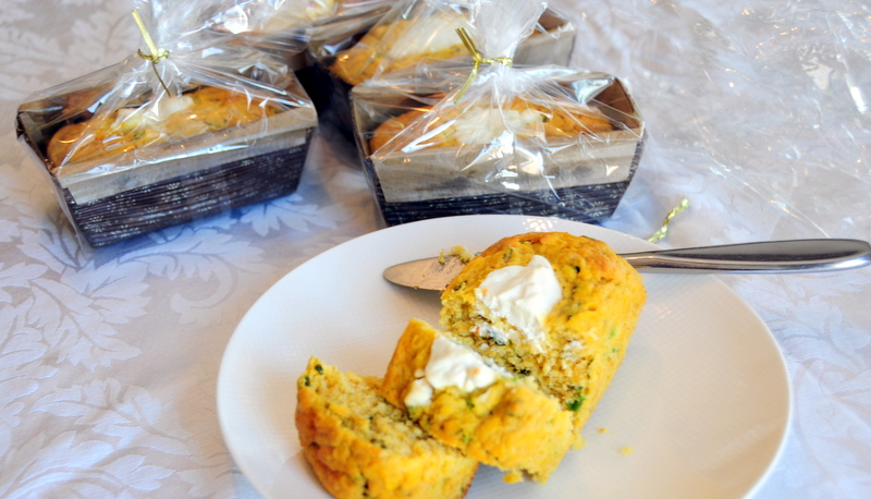 savory pumpkin bread with garden herbs and labneh