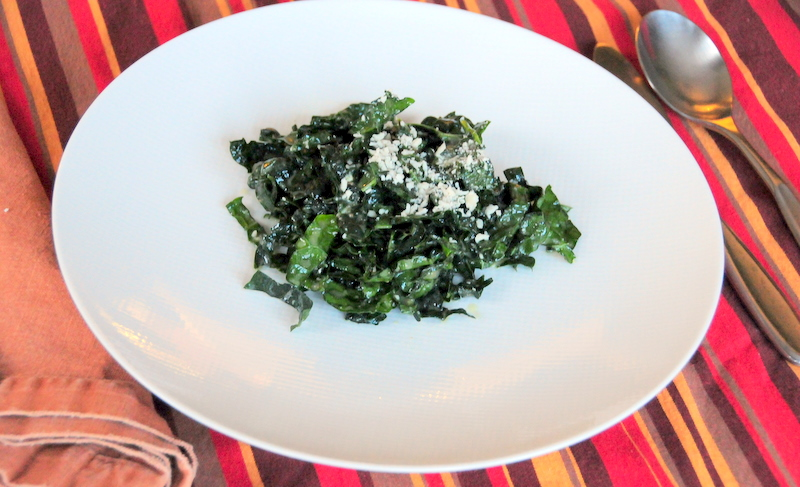 raw Tuscan kale salad with lemon