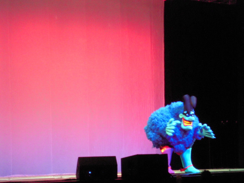 the Blue Meanie at the WorldCon Masquerade