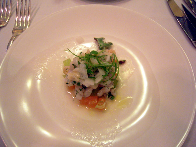 geoduck, razor and surf clam ceviche