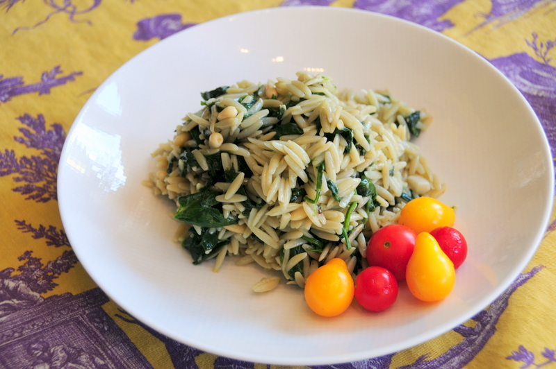 orzo with spinach