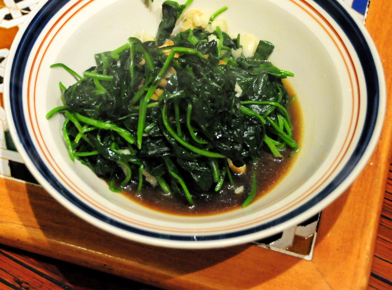 Korean inspired sautéed spinach
