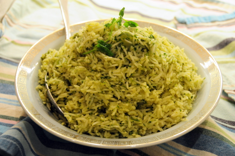 cilantro flavored basmati rice