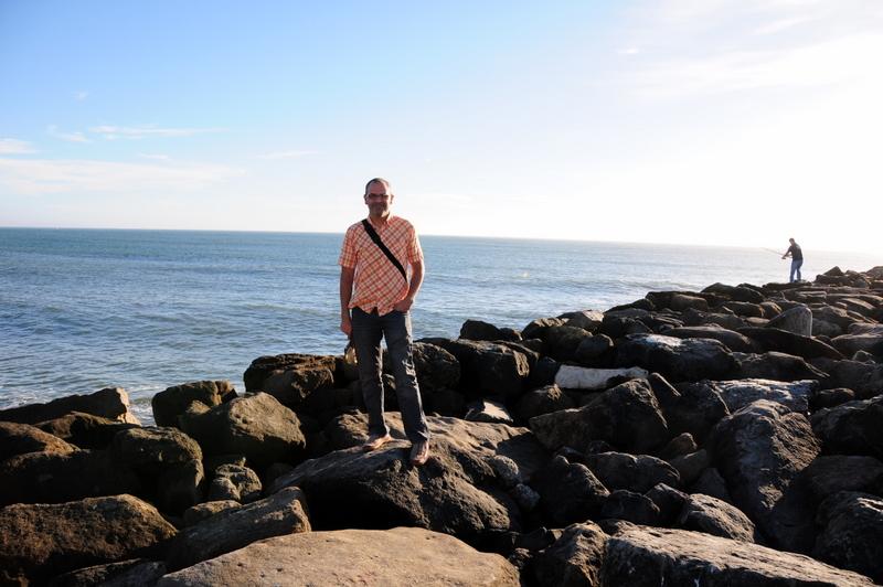 standing at the California Coast at Half Moon Bay