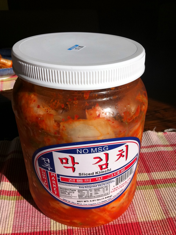 store-bought kimchi