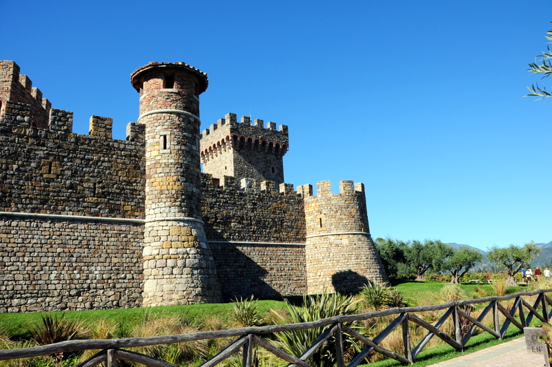 Castello di Amorosa watchtowers across the moat